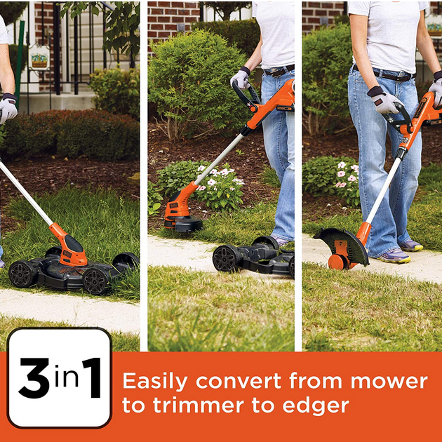 BLACK and DECKER 3-in-1 Lawn Mower, String Trimmer and Edger