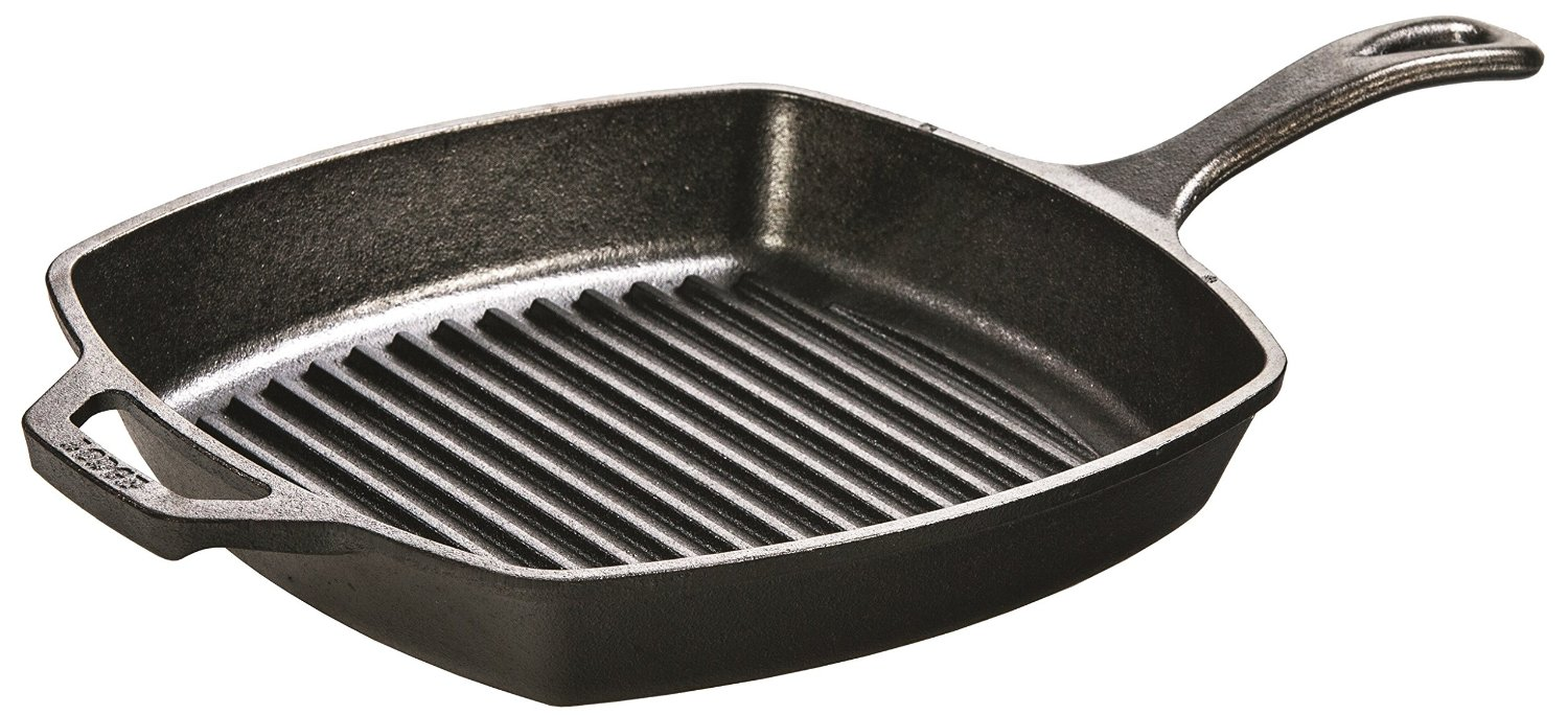 Lodge Square Cast Iron Seasoned Grill Pan