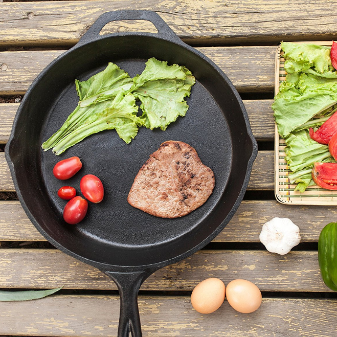 Utopia Kitchen Pre-Seasoned Cast-Iron Skillet (UK0037)