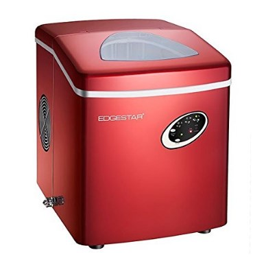 EdgeStar Red Portable Ice Maker, Soft Touch Controls, No Drain Required