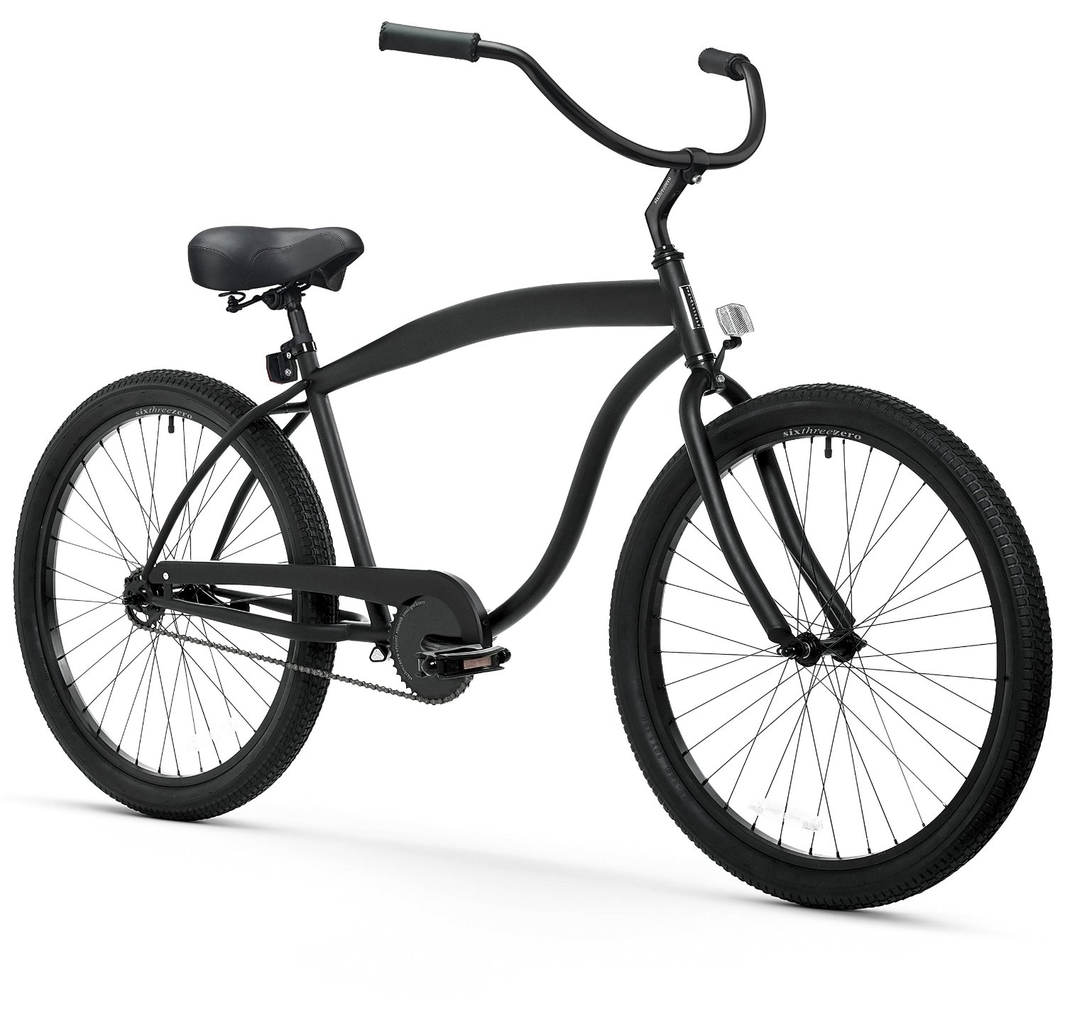 "sixthreezero In The Barrel Men's Beach Cruiser Bike – Comfort Bubble Saddle and 26"" Wheels"