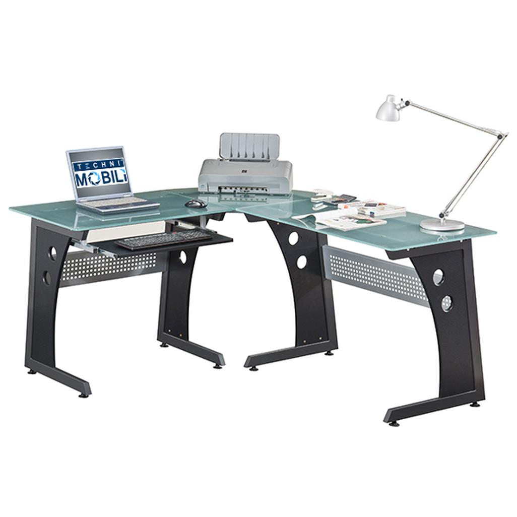 Walker Edison Soreno 3-Piece Desk for Computer – L-Shaped