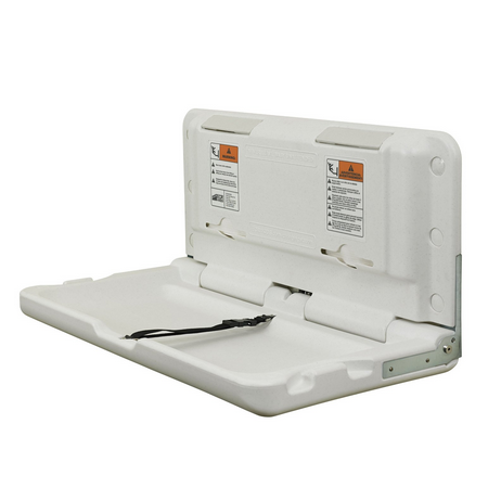 ECR4Kids Horizontal Commercial Baby Changing Station-White Granite