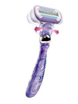 Gillette Swirl Women's Razor Handle with 2 Razor Blade Refills – Available in 2 Colors