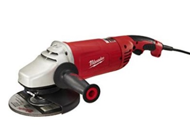 Milwaukee Large Angle Grinder with Lock-On