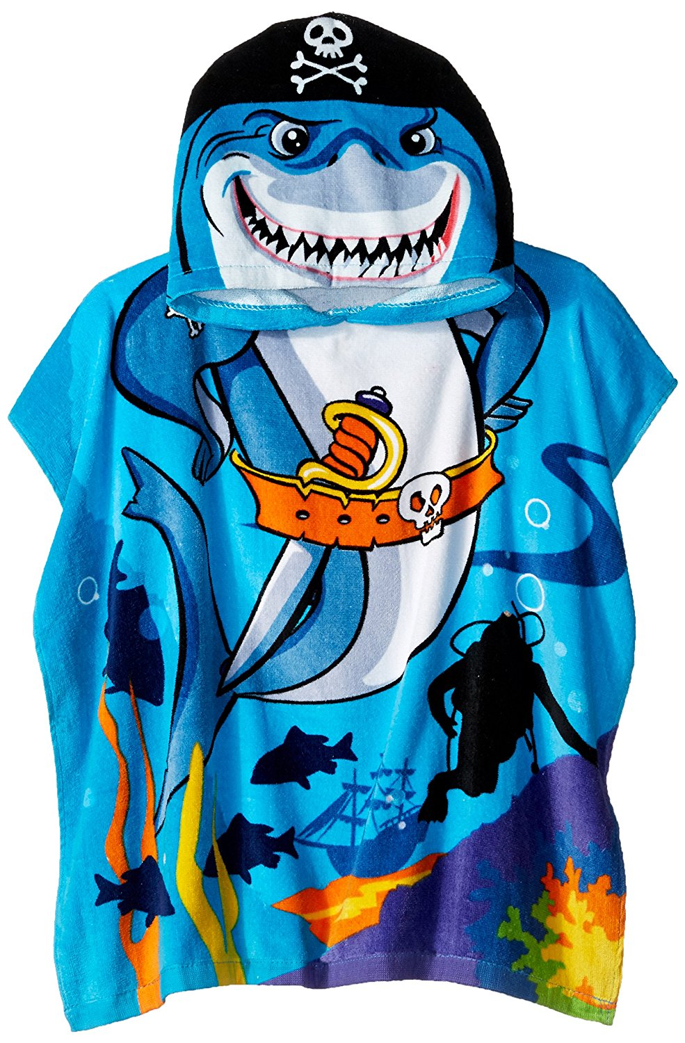 Northpoint Pirate Shark Kids Beach Towel