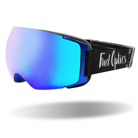 Fuel Optics High Performance Anti-Fog Snowboard Goggles with Magnetic Quick Change Lens-Blue