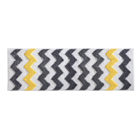 InterDesign Microfiber Chevron Bathroom Rug