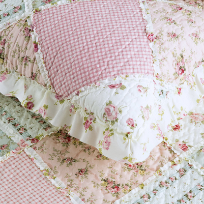Bedsure Country Patch Printed Quilt Set with Shams