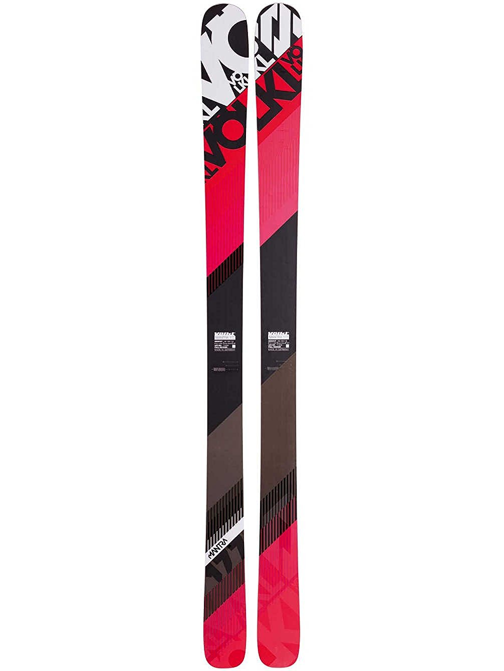 Volkl Mens Mantra Skis with Full Rocker Base, Full Titanal Construction, Multi Layer Woodcore