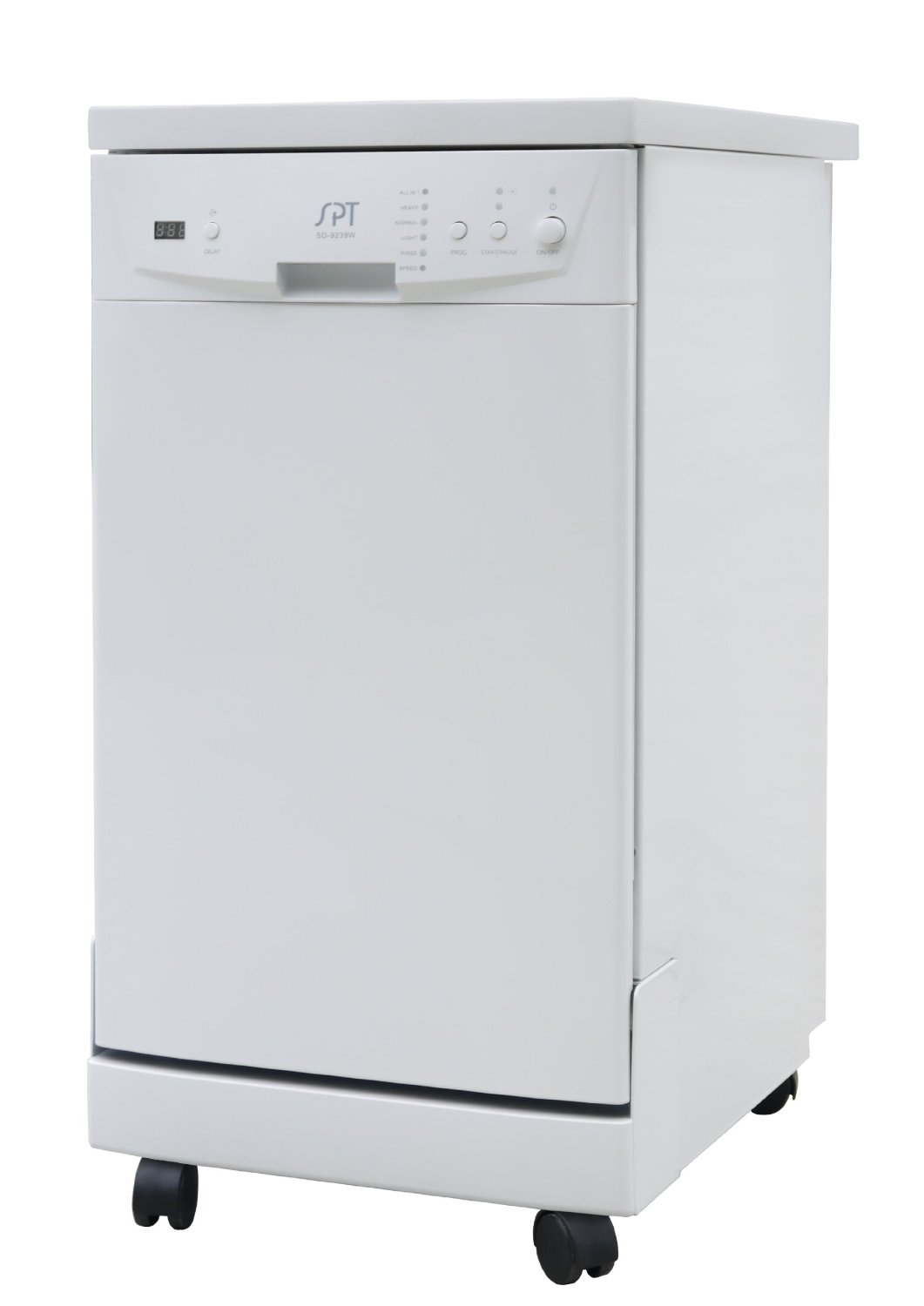 SPT SD-9241W 18-Inch Energy Star Portable Dishwasher With Eight Standard Place Settings – 2 Color Options