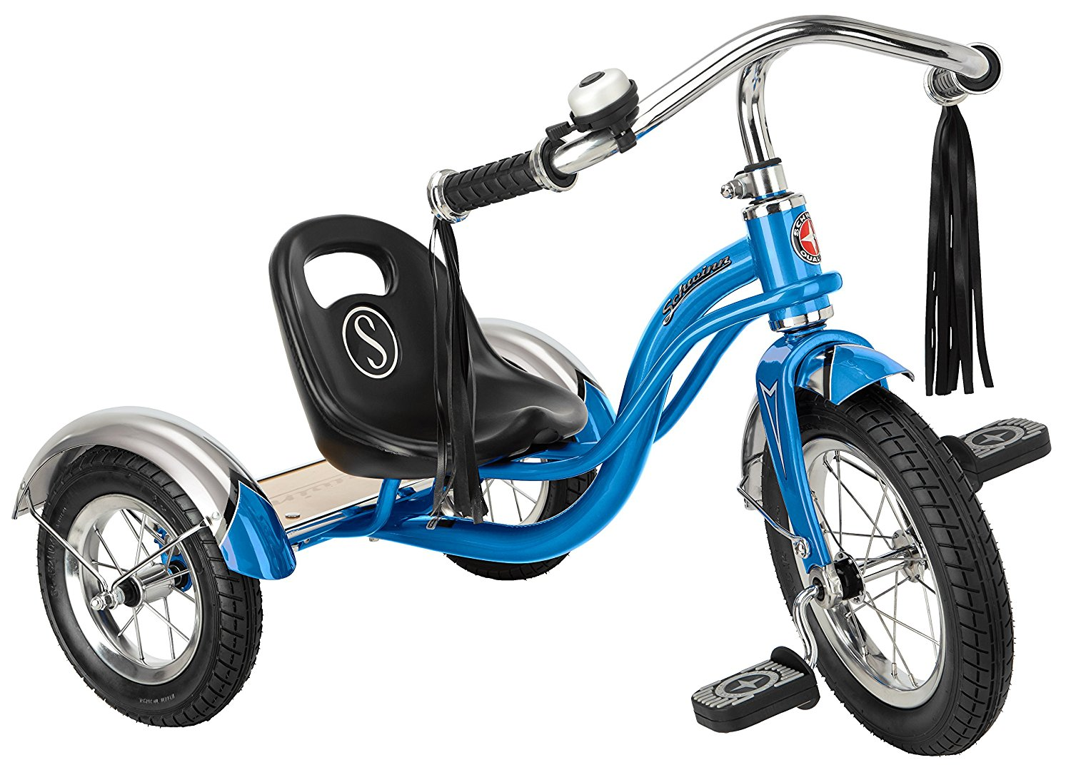 Schwinn Roadster 12-Inch Trike With Adjustable (5-Position) Sculpted Seat And Low Center Of Gravity To Prevent Tip-Overs – Four Color Options