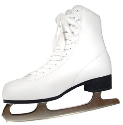 American Athletic Women's Tricot Lined Ice Skates – Easy Care Wipe-clean Boot