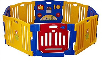 Baby Diego Cub'Zone Playpen And Activity Center With Detachable Panels For Increasing/Reducing Play Space