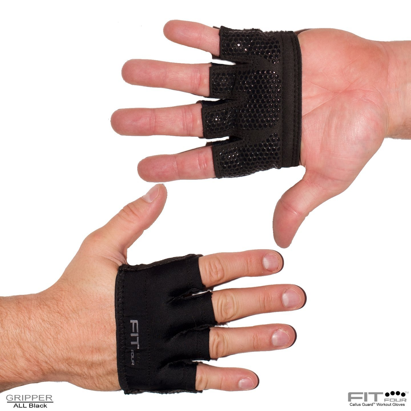 "Fit Four 'The Gripper"" Silicone Grip Weight Lifting Gloves"