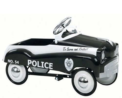 InStep Police Ride On Pedal Car with Adjustable Pedal System, 70-pound Capacity and Solid Steel Frame