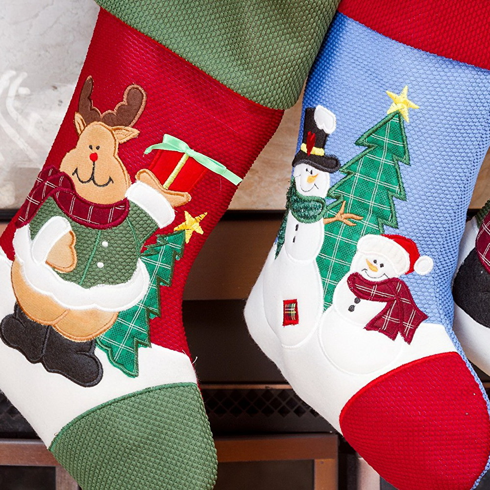 Classic Embroidered Christmas Stocking Sets