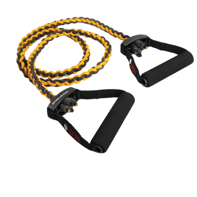 SPRI Braided Xertube Plus Resistance Band Exercise Cords with Exercise Guide