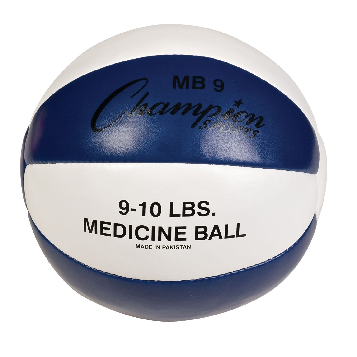 Champion Sports Leather Medicine Ball – 4-15 lbs.