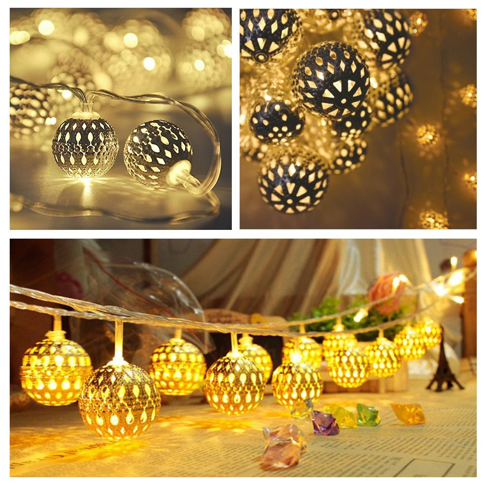 Foneso 20 LED Ball Christmas Lights