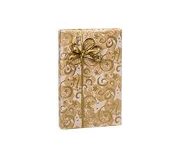 Buttons Bags and Bows Xmas Wrapping Paper