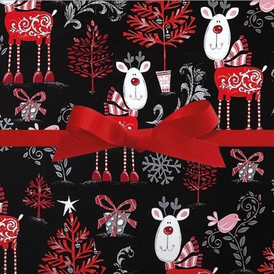 Current Jumbo Reindeer Wrapping Paper Roll