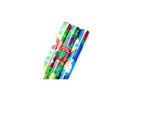 Hallmark Reversible Foil Christmas Wrapping Paper for Gifts - Pack of 3 Rolls, Available in Multiple Seasonal Holiday Designs