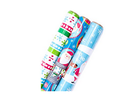 Hallmark Reversible Foil Holiday Wrapping Paper