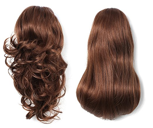 "OneDor® 15"" Dual Use Curly Styled Clip in Claw Ponytail Synthetic Hairpiece - Available in 15 Colors"