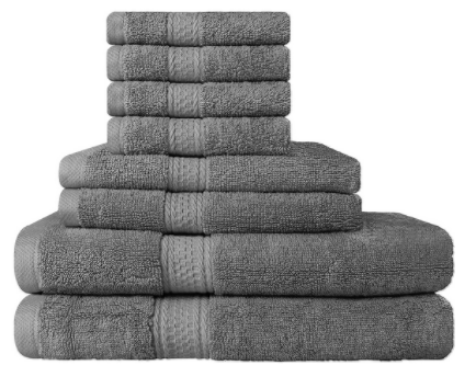 Utopia Towels Premium Highly Absorbent 8 Piece Towel Set, Hotel Quality, Super Soft – Available in 5 Colors