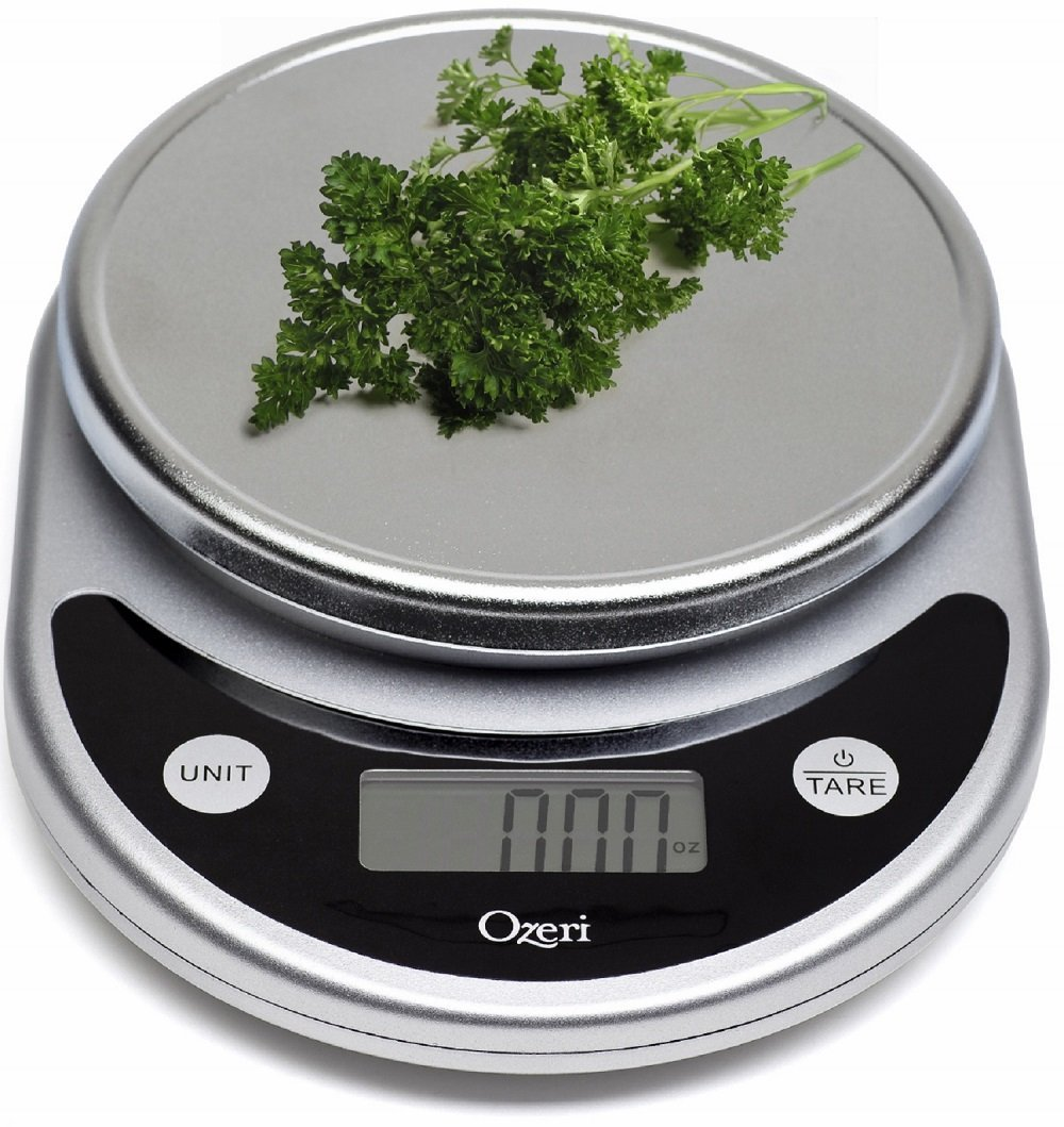 Ozeri Pronto Digital Multifunction Kitchen & Food Scale with Automatic Conversion & Chrome Platform – Available in 7 Colors
