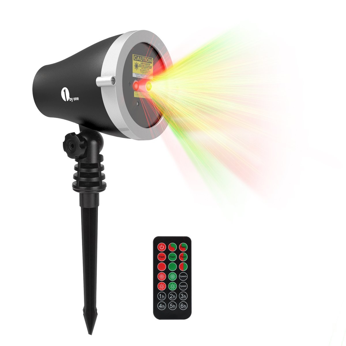 1byone Christmas Outdoor Laser Lights