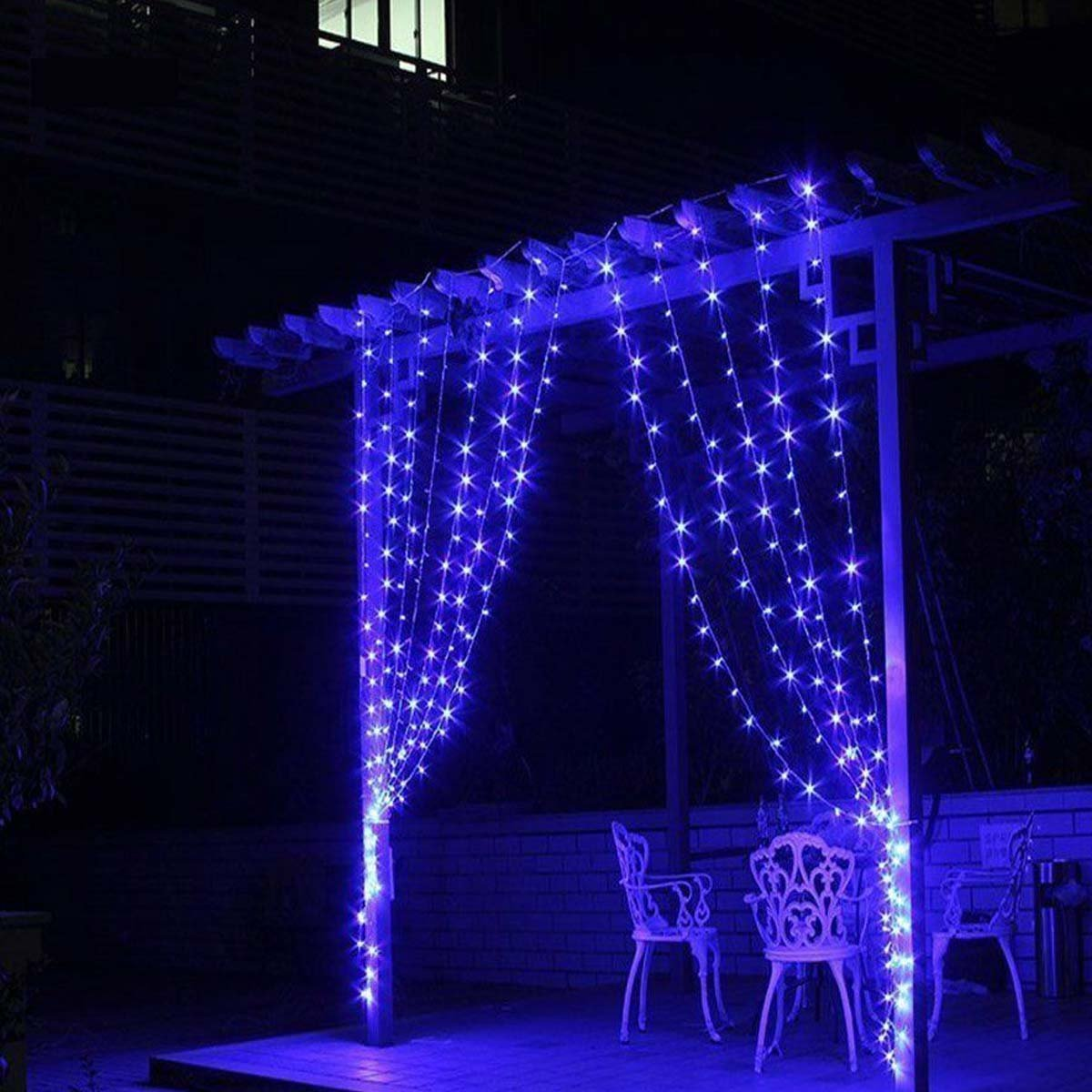 Aogist Weatherproof Outdoor Curtain Lights