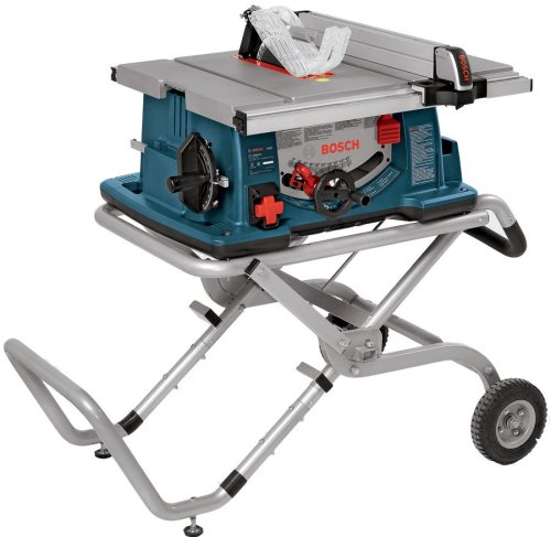 "Bosch 10"" Worksite Table Saw with Gravity-Rise Stand, High Precision Cutting & 1-Year Warranty"