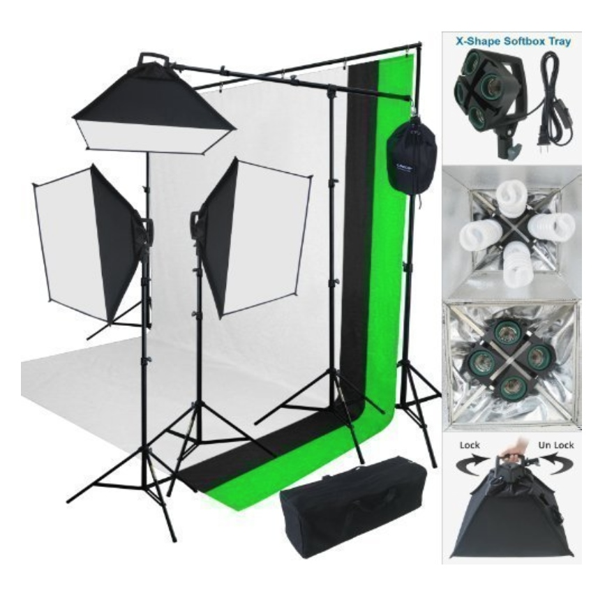 Linco 2000 W Photo Studio Lighting Kit