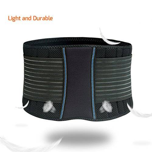 BraceUP Stabilizing Lumbar Lower Back Brace and Support Belt with Dual Adjustable Straps and Breathable Mesh Panels – Available in 3 Sizes