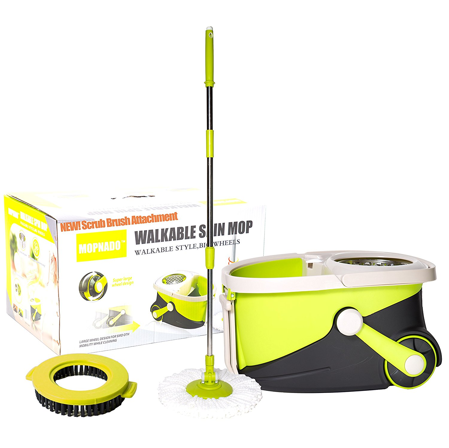Twist and shout mop review - Mopnado Walkable Deluxe Spin Mop