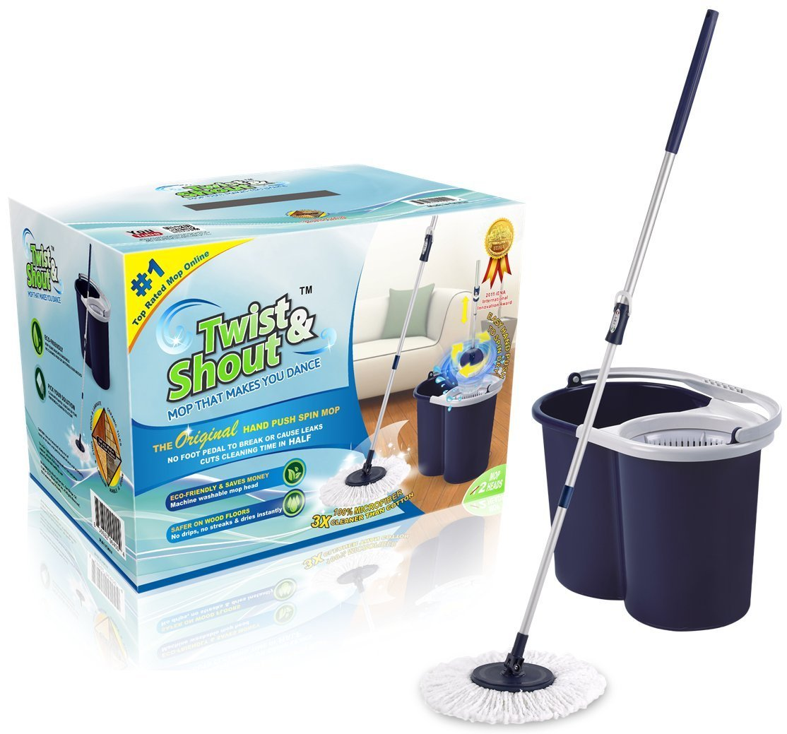 Twist and Shout Mop Award Winning Hand Spin Mop