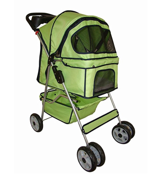 BestPet 4 Wheels Pet Dog Cat Stroller