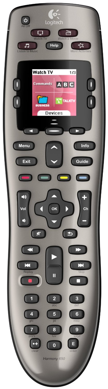 Logitech Harmony Infrared All-in-One Universal TV Remote Control with Support for up to 8 Devices & Graphic Screen & One-Touch Activity Buttons