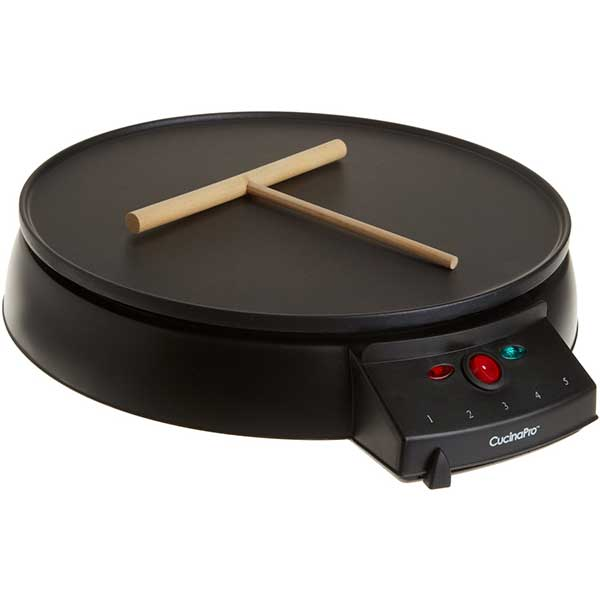 CucinaPro Non-Stick Crepe Maker and Griddle - Includes Spreader and Recipe Guide