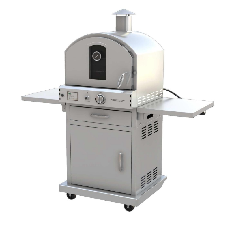 Pacific Living Outdoor Gas Oven with Cart