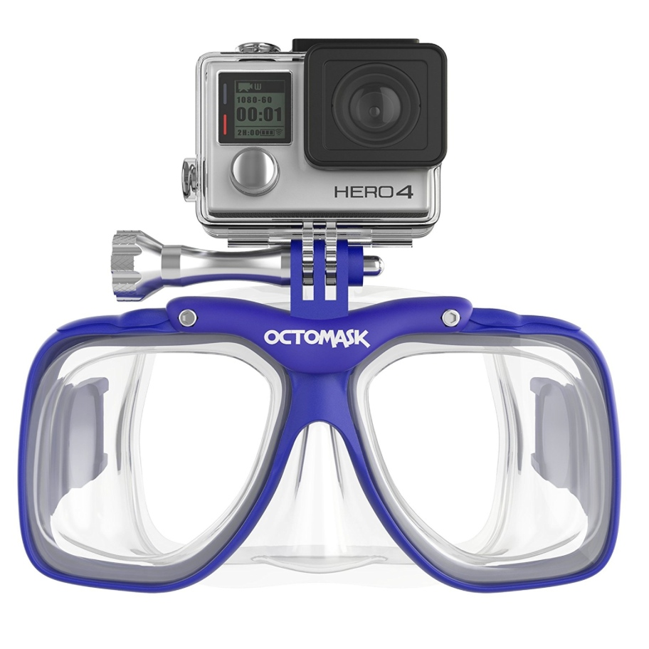 Octomask GoPro Hero4 and Hero3+ Dive Mask for Scuba Diving and Snorkeling – Available in 3 Colors
