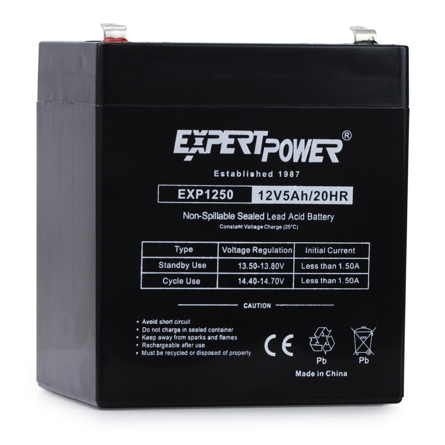 ExpertPower 12V Home Alarm Battery