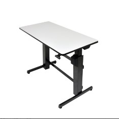 Ergotron WorkFit-D Sit-Stand Desk — Light Gray — Easily Adjustable