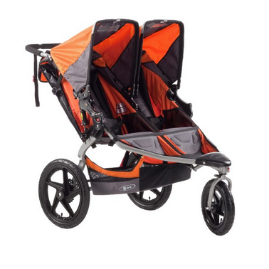 BOB Revolution SE Duallie Double Stroller in Orange