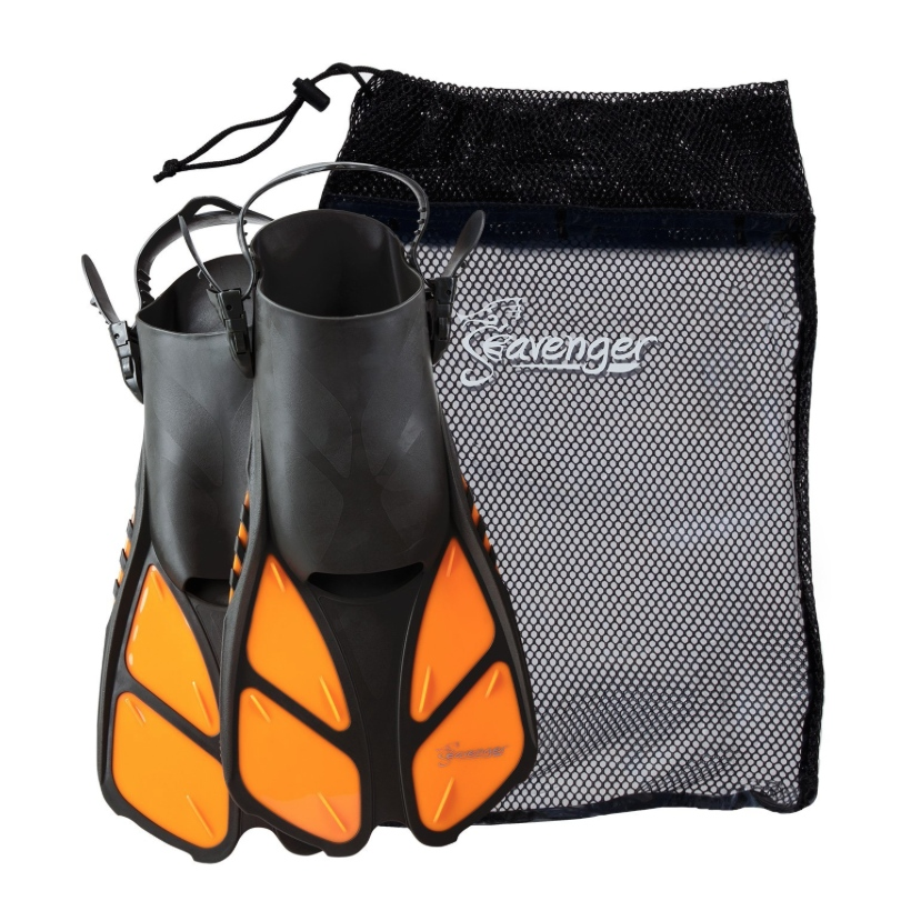 Seavenger Snorkeling Fins with Bag