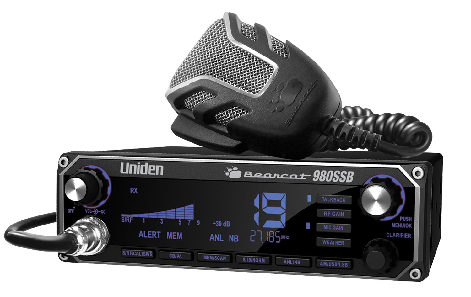 Uniden Bearcat 980 SSB 40-Channel SSB CB Radio With Sideband, WeatherBand And 7-Color Digital Display – 10 Style Options
