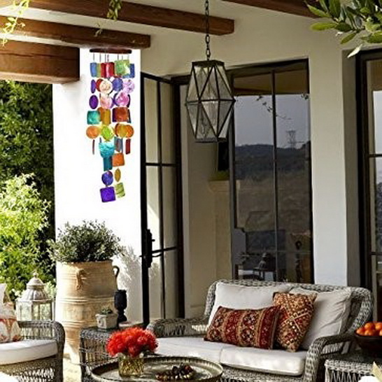 Bellaa Urban Trends Capiz Wind Chime