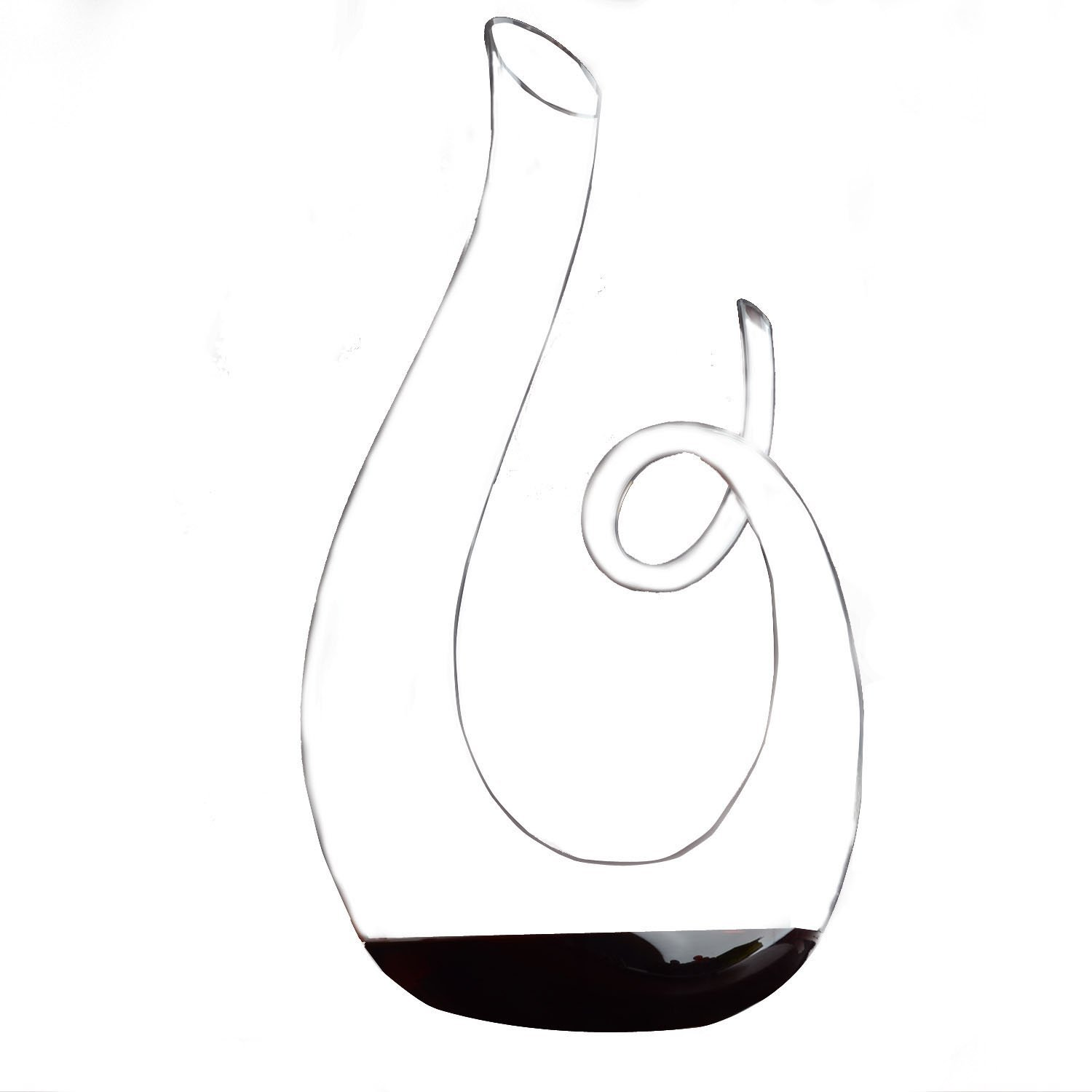 Hanzeek Music Notation Shaped 53 Ounce Wine Decanter – Lead-free Crystal in Unique, Elegant Shape